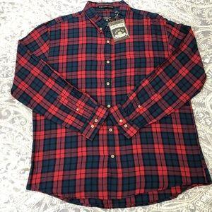 Men's NWT Vintage 1946 Long Sleeve Plaid Shirt XXL